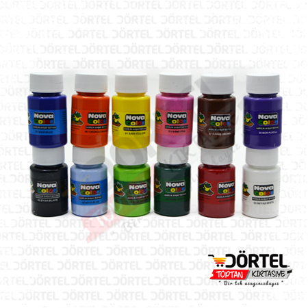 Nova Color 12 renk şişe Akrilik Boya 30ml
